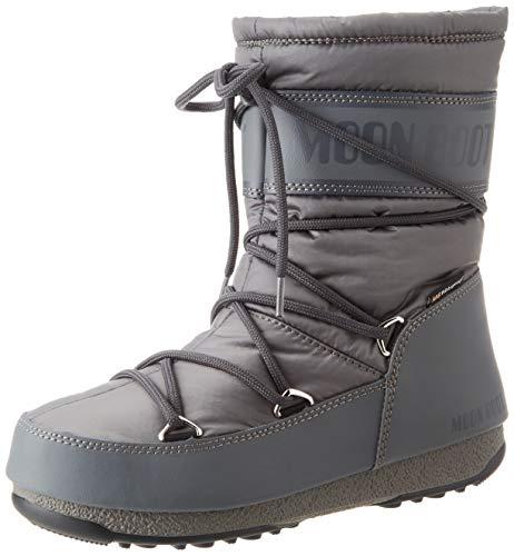 Moon-boot Damen Mid Nylon Wp Schneestiefel, Grau (Grigio 006), 39 EU