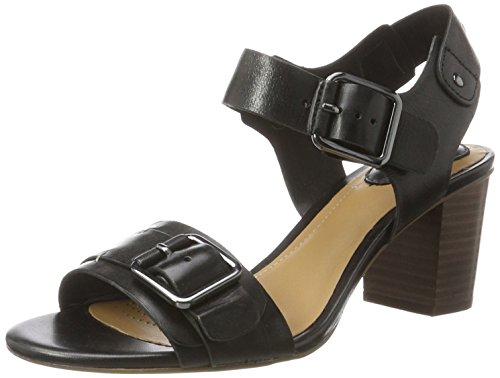 Clarks Damen Relene Dazzle Slingback, Schwarz (Black Leather), 39 EU