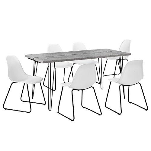 [en.casa]®] Mesa Comedor Elegante Capacidad 6 Personas