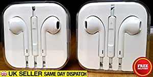 Apple Earpods for iPhone 5/5S - No retail packaging, comes in crystal hard case only