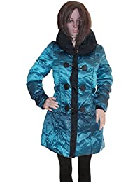 Kotak Sales Imported Stylish Women Winter Coat Warm Jacket Mid Length Overcoat Detachable for Ladies Girls (Size L)