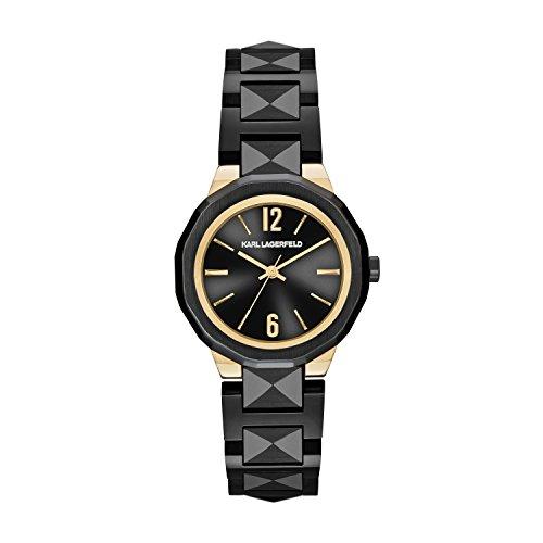 Karl Lagerfeld KL3401 - Reloj con correa de metal, para mujer, color negro