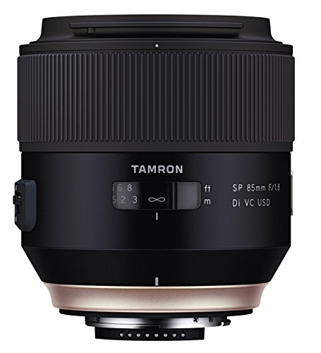 Tamron 85 mm F1.8 VC USD Lens for Canon DSLR Camera - Black