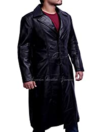 NEW Wesley Snipes Blade Trinity Genuine Leather Long Coat
