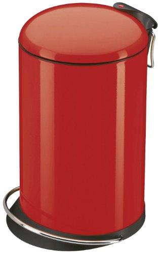 Hailo 0516-530, TOPdesign M, Tret-Abfallsammler, 16 Liter, stahlblech rot
