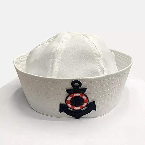 thematys Matrosen-Mütze Marine Herren Damen - Kostüm für Erwachsene & Kinder - perfekt für Fasching & Karneval - Einheitsgröße (B)