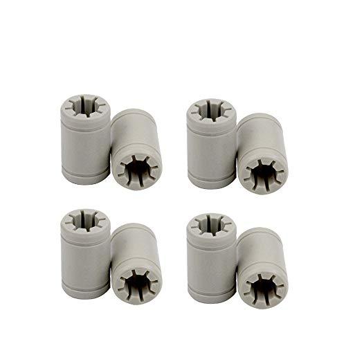 Rodamientos de impresora 3D LM8UU, FYSETC de polímero sólido de 8 mm eje X-Y-Z eje de repuesto de bujes autolubricantes para Anet A8 A6 Reprap Mendel Prusa i3 MK3 MK2s-8 piezas