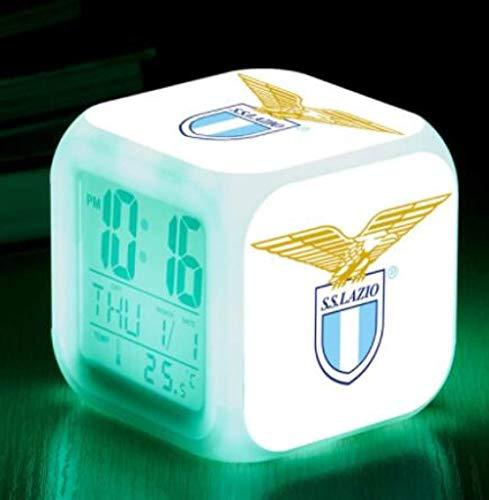 XLZZLDZ Wecker Torino Football Club LED Wecker Uhr Touch Lighting Digital Wake Up Uhren In Gift Gox, Hellgelb
