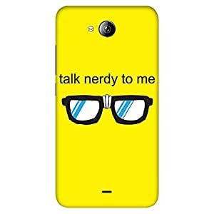 Mobo Monkey Designer Printed Back Case Cover for Micromax Canvas Play Q355 (Yellow :: Nerdy :: Nerd :: Cool :: Cartoon)