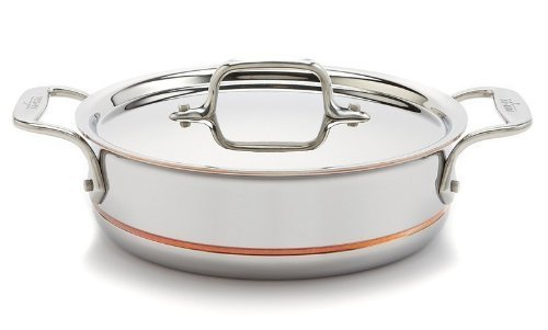 All-Clad Copper Core 64023 2-Quart Saute Pan with Lid & Loop Handles by All-Clad All Clad Copper Core
