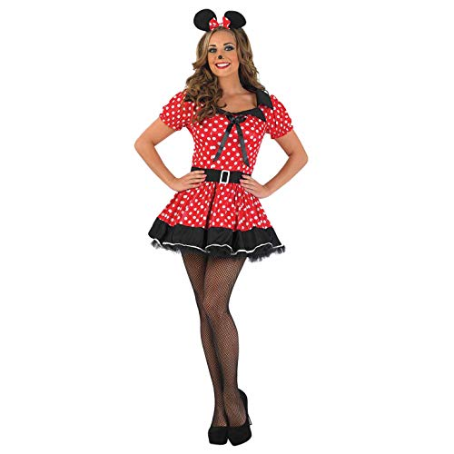 Fun Shack Missy Mouse - Rot - Adult Kostüm - XXL - 52-54 (Minnie Mouse Adult Kostüm)