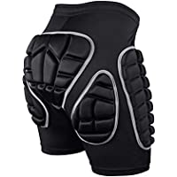 Protection Hip,3D Padded Shorts Breathable Lightweight Protective Gear for Ski Skate Snowboard Skating Skiing Volleyball Motorcross Cycling (S M L)