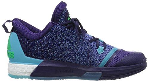 adidas Herren Crazylight Boost 2.5 Low Basketballschuhe Morado / Azul / Rosa (Purosc / Briazu / Rosimp)