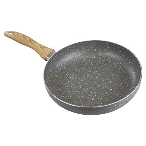 Country Kitchen Antihaft-Pfanne aus Aluminium mit weichem Silikongriff, Marmorgrau 9.5
