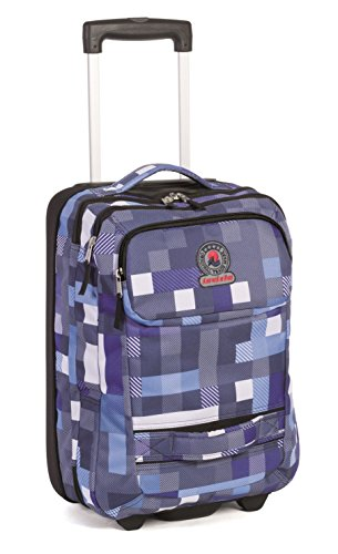 e7028a14207d53 TROLLEY Invicta - TRAVEL - fantasia blue - 35 LT 46x24x33 cm - bagaglio a  mano