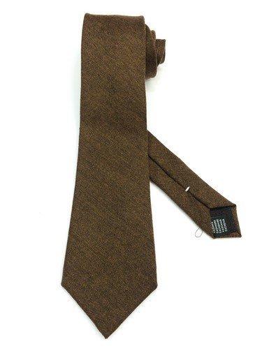 Real Luxury Napoli Krawatte, dreifach gefaltet, mit Futter, Kaschmir, Braun