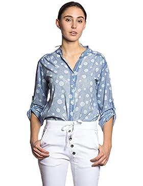 Abbino IG007 Blusas Para Mujeres - Hecho EN Italia - Colores Variados - Colección Transición Primavera Verano...
