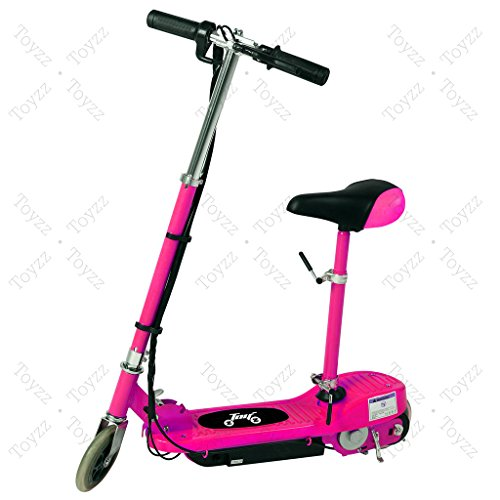 New 2017 Electric E Scooter Ride on Rechargeable Battery Removable Seat Kids Toys Ride On Cars 120W 24V Scooters (PINK WITH SEAT)