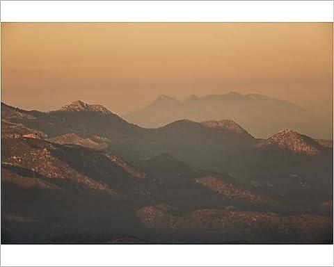 Photographic Print of Mountain Range at sunset