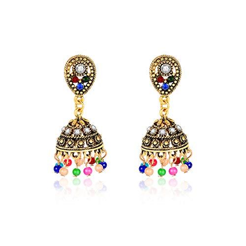 Haptian set di orecchini, nuovi orecchini etnici di design antico colorato perline colorate nappa ciondola ciondolo intagliato gioielli donne india strass fascini regali turchi