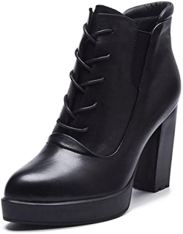 les chaussures en cuir, des des des bottes, mesdames b0762p4zrg dentelle martin parent 5ef151