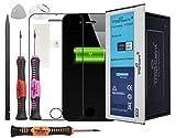 Trop Saint® Akku für iPhone 4S - 1430mAh/3,8V mit Werkzeug, Sticker und Panzerglas