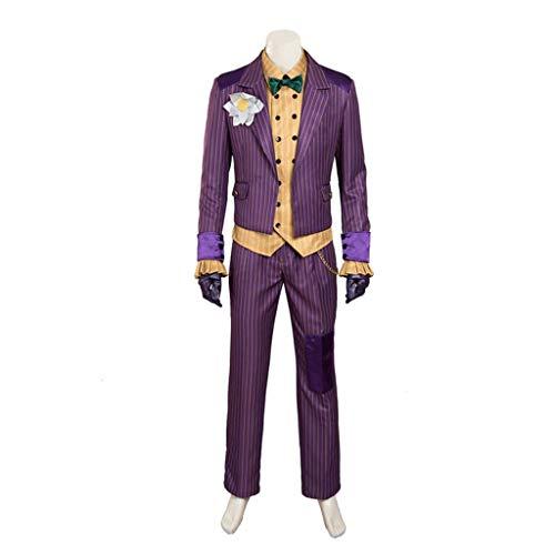 Kostüm Clown Männlich - nihiug Batman, Forrest, Irrenhaus, Clown, männliches Cosplay-Kostüm, Brauch, Halloween-Anzug, Kleidung,Purple-L
