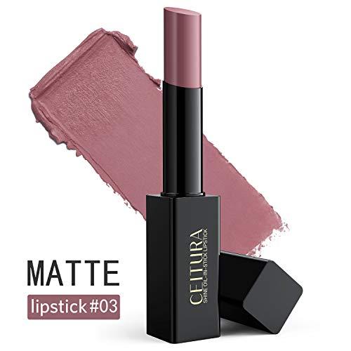 Rouge à lèvres, Rouge mat foncé foncé foncé hydratant de longue durée pour maquillage nude, CEITURA # 003, 1 tube