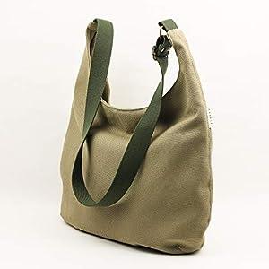 Graugrüne Umhängetasche. Tasche mit Taschen, Reißverschluss und verstellbarem Gurt