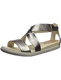 Ecco Footwear Womens Women s Damara Strap Sandal Gladiator Sandal Warm Grey/Metallic 8-8.5 B(M) US
