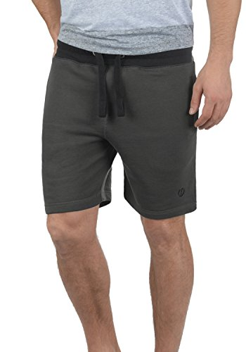 SOLID Benni Herren Sweat-Shorts kurze Hose Sport-Shorts aus hochwertiger Baumwollmischung, Größe:XL, Farbe:Dark Grey (2890) (Fleece Shorts Sweat)