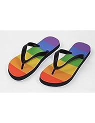 Flip Flop Regenbogen - Schuhe / Slipper Badeschuhe Flip-Flop Badelatschen Badeschlappen Sandale Zehentrenner