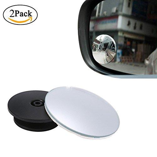 KOBWA Blind Spot Miroir, Rétroviseur Grand Angle 360 ° Rond HD en Verre Fin sans Cadre Miroir Miroir Accessoires Auto pour Toutes Les Voitures, SUV, camions et Plus Encore