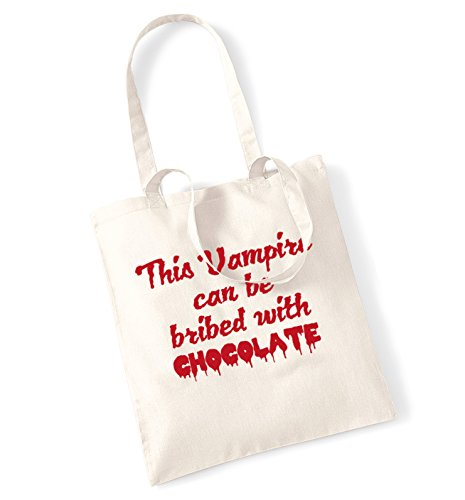 This vampire can be bribed with chocolate tote bag
