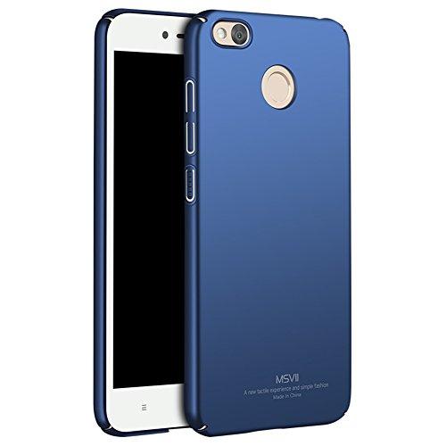 Xiaomi Redmi 4X Hülle, MSVII® Sehr Dünn Hülle Schutzhülle Case Und Displayschutzfolie für Xiaomi Redmi 4X (Nicht mit Redmi 4 kompatibel) - Schwarz JY00206 Blau
