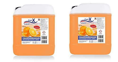 Orangenreiniger Konzentrat 2 x 5 Liter Fettloser Fleckentferner Universalreiniger Bodenreiniger Industriereiniger