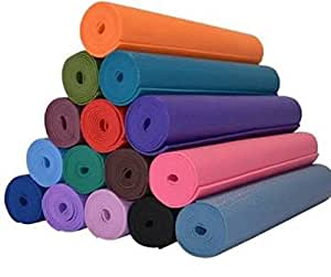 Max2100 PVC Yoga Mat For Exercise And Meditation, 4Mm ,Multicolor