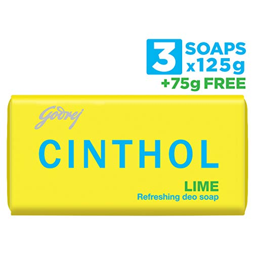 Cinthol Soap, Lime125g(Buy 3 get 1+ 75g free)