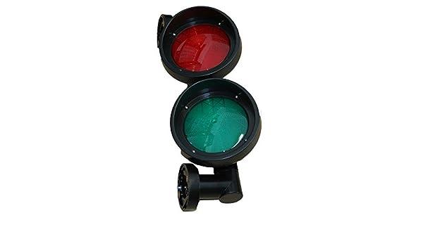 LED Ampel mit roter Linse Verkehrsampel Signalampel