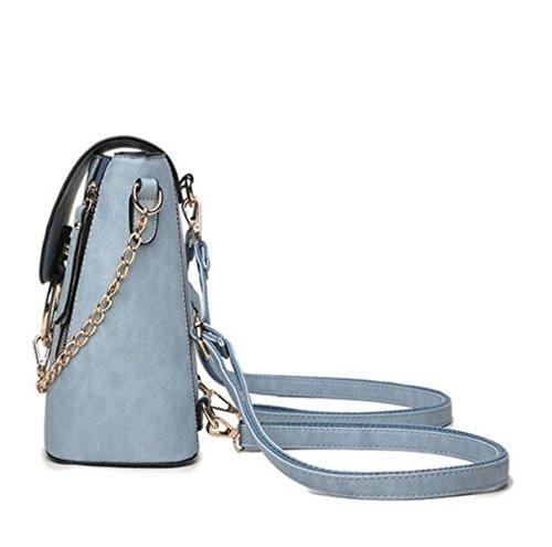 Frauen-Art- Und WeiseLippen-Rucksack-PU-lederner Schulter-Beutel-Handtaschen-beiläufiger Rucksack-Schule-Beutel Blue
