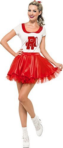 Damen Sandy Von Fett Cheerleader Maskenkostüm Größe ()