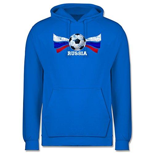EM 2016 - Frankreich - Russia Fußball Vintage - Männer Premium Kapuzenpullover / Hoodie Himmelblau