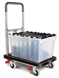 Magna Cart 8717496633811 MFF Faltbare Transportkarre aus Aluminium, black