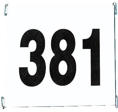 Startnummernsatz reißfestem Papier Satz