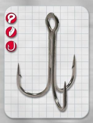 Gamakatsu Hook Treble 23 Drillinge - 5 Drillingshaken zum Spinnfischen, Angelhaken zum Raubfischangeln, Haken für Hechte & Zander, Größe:5/0