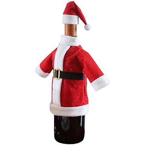 ✽Internet✽ Botella de vino de la cubierta bolsos de fiesta de Navidad la decoración del hogar