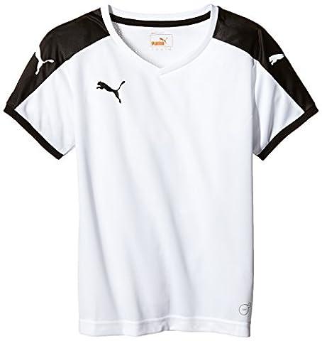 Puma Unisex-Kinder T-Shirt Pitch, weiß (White-Black), Gr. 13-14 Jahre (Herstellergröße: 164)
