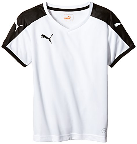 Puma Unisex-Kinder T-Shirt Pitch, weiß (White-Black), Gr. 13-14 Jahre (Herstellergröße: 164) Sport-bekleidung Für Kinder