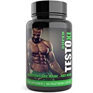 TESTO XL: Testosterone Boosters for Men - 180 Super Testo Booster Capsules - Advanced Weight Gain Supplement Contains Natural ingredients Tribulus Terrestris Increase Test Levels - Used By athletes and bodybuilders for an extreme boost to Muscle & Strength. Testo T3 Pack 3 Months Supply Natural Male Enhancement Pills. Limited Edition Black Bottle - UK Manufactured