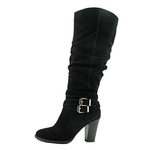 INC International Concepts Jordana Wide Calf Femmes Daim Botte Black